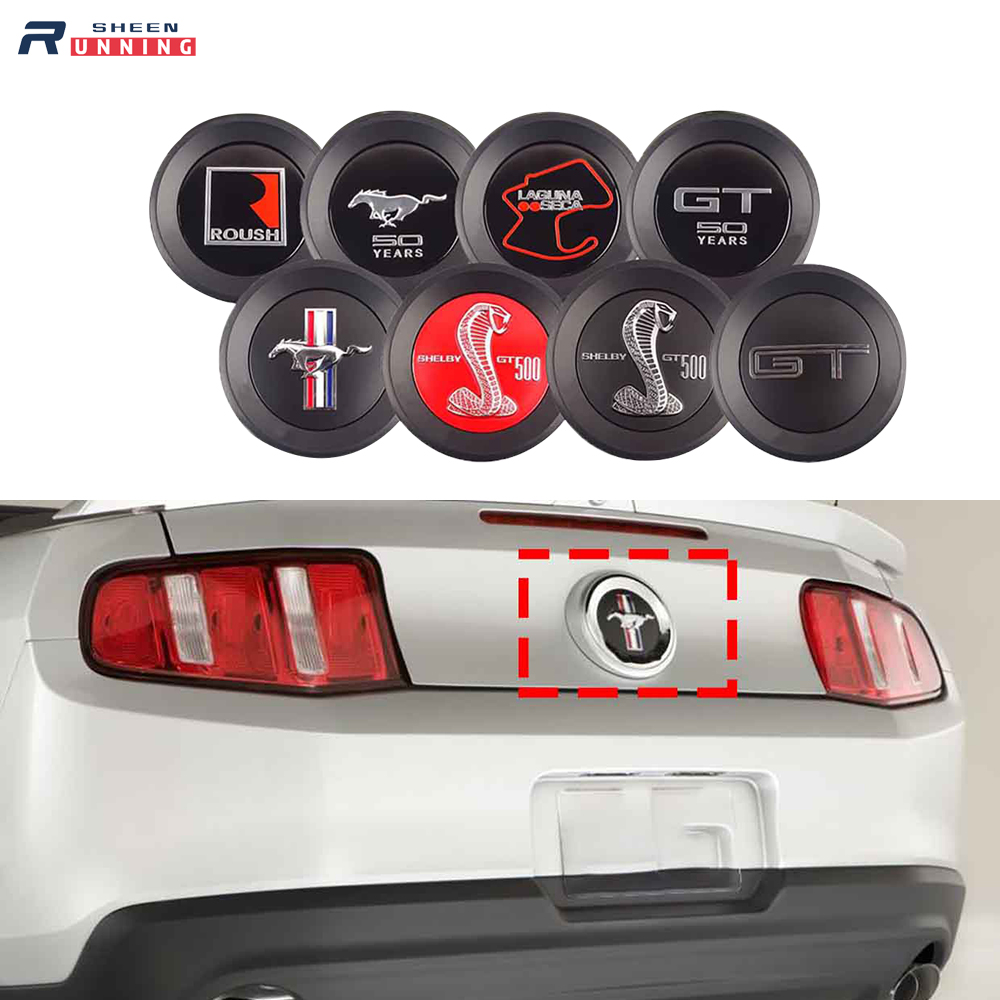3D Horse Style Car ABS Rear Back Emblem Badge Sticker  50 Years Shelby GT500 Roush Laguna Seca for Ford Mustang 2010 Up +