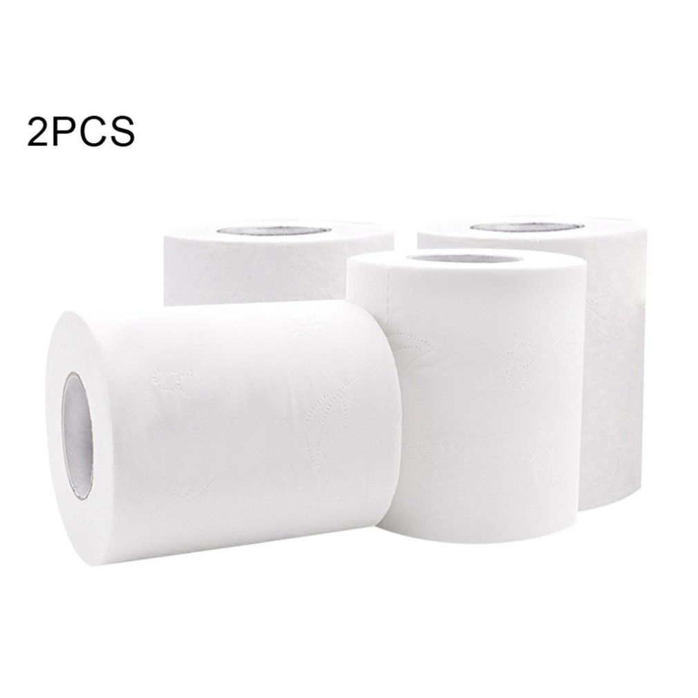 Toilet Paper Roll / 4-layer  Bathroom Tissue Thicken Gentle Skin-Friendly Paper Towel  For Hotel Salon Or For Family  2 Rolls