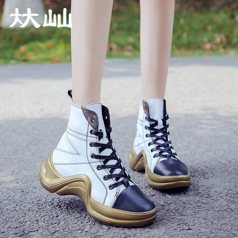 Bishen Women High Top Sneakers Female Comfortable Casual Hip Hop Shoes Outdoor Non Slip Breathable Shoes Flats Shoe Martin Boots