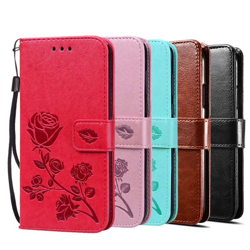 3D Rose Leather Printed Flower Case for <font><b>Oukitel</b></font> C4 C12 C11 C13 <font><b>C15</b></font> C17 C16 <font><b>Pro</b></font> Flip Wallet <font><b>Cover</b></font> with Strap image