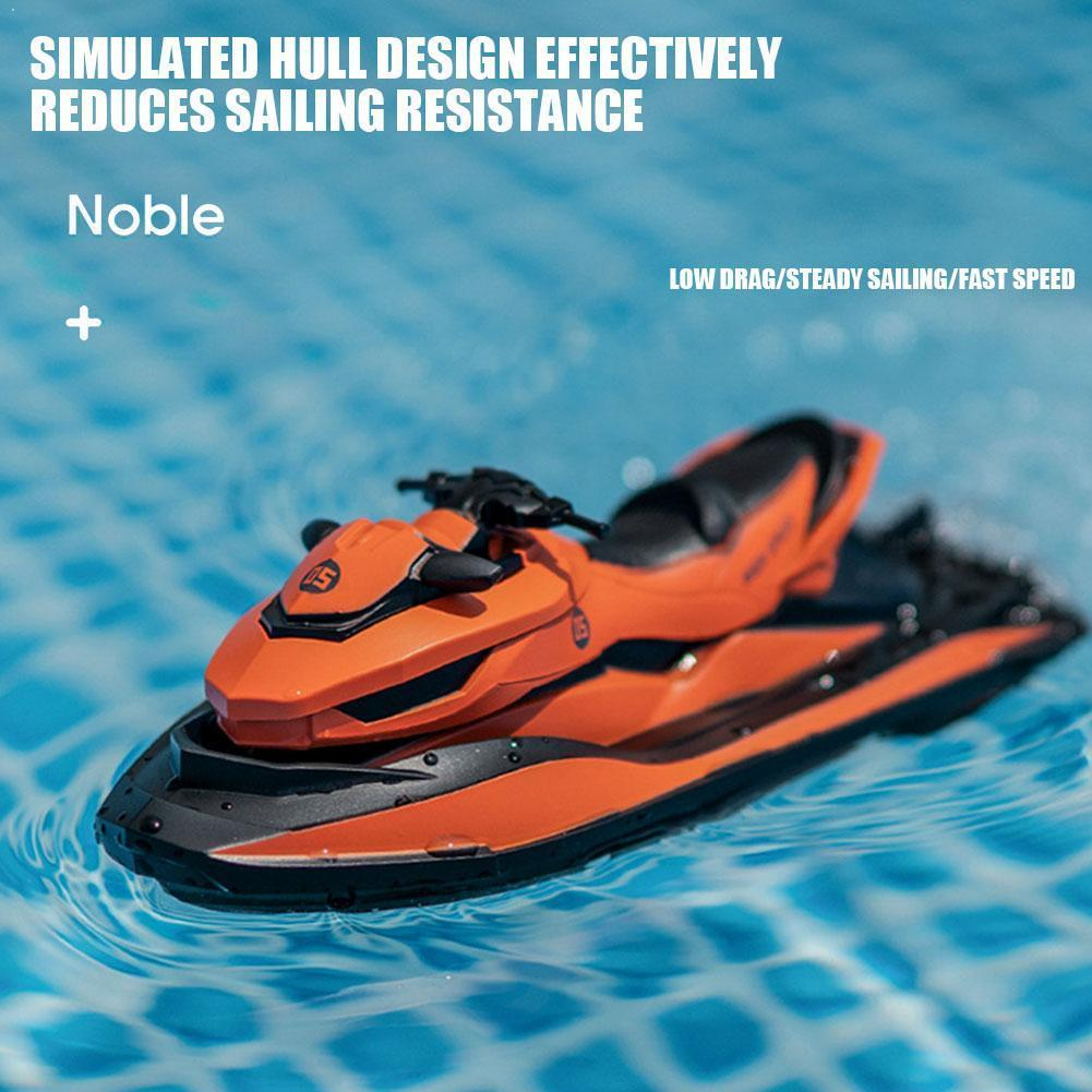 SMRC M5 2.4G Mini Remote Control Rc Boat Motorboat Summer For Water Children's Boy In Skiing Gift Model Toys T9U1