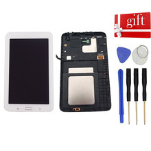 Lcd Voor Samsung Galaxy Tab 3 Lite Sm-T110 T111 T113 T116 Lcd-scherm Panel Touch Screen Digitizer sensor Vergadering Frame(China)
