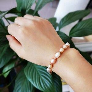 Image 5 - CoeufuedyG Pearl Bracelet fashion Multi Color Bracelet For Women Gift Adjustable charm Bangles Jewelry