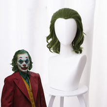 Джокер фильм Pennywise Хоакин Феникс Артура Флек клоун, Бэтмен Джокер парик косплей кудрявые зеленые синтетические волосы костюм