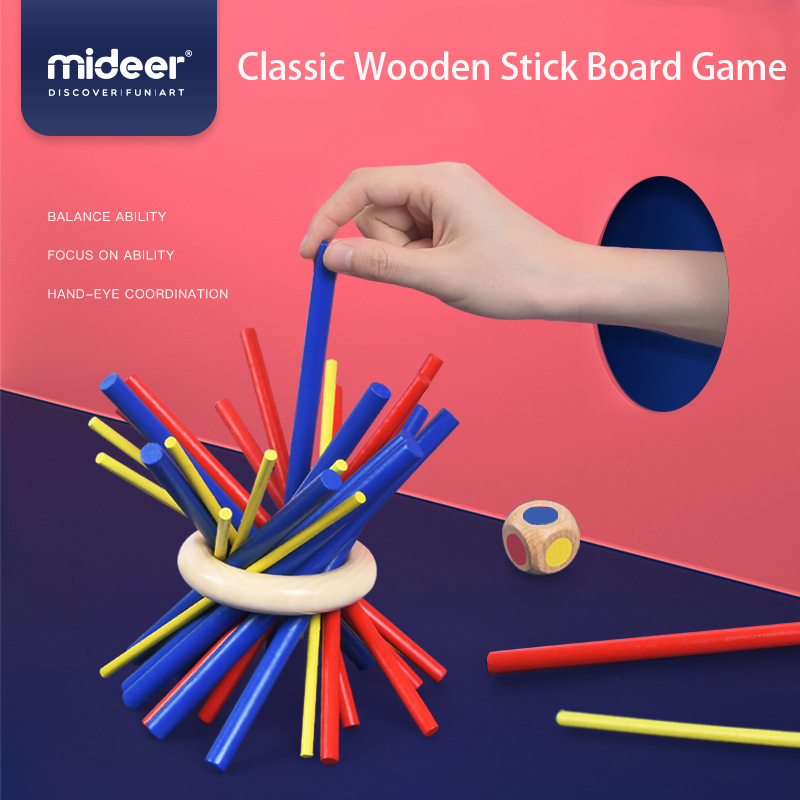 MiDeer Children Board Game Pig Build Sticks Parent-Child Interactive Puzzle Children's Education Toys Kids Funny Toy Gifts
