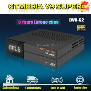 Original Gtmedia V9 Super Satellite Receiver with 3 Years Europe Cline Built-in WIFI Full HD H.265 Same as Gtmedia V8 Nova(China)