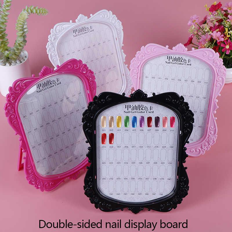 Profissional modelo unha gel polonês cor caixa de exibição livro dedicado 48 cor cartão carta pintura manicure ferramentas da arte do prego