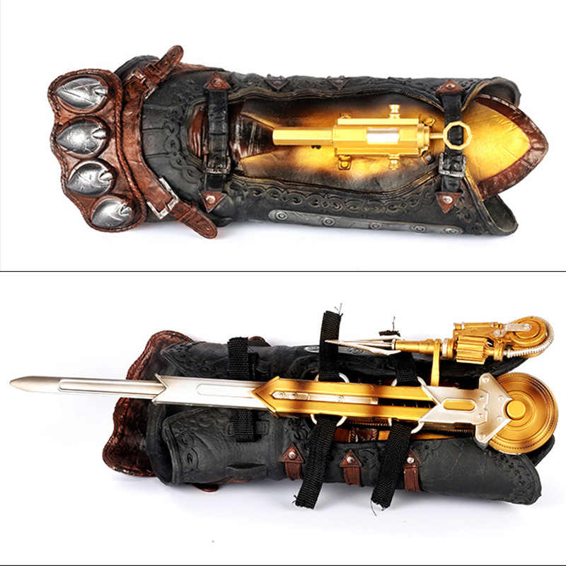 Hidden Blade Sleeve Sword Action Figure Assassins Hidden Blade Edward Weapons Sleeves Swords Can The Ejection Kids Toy Gift