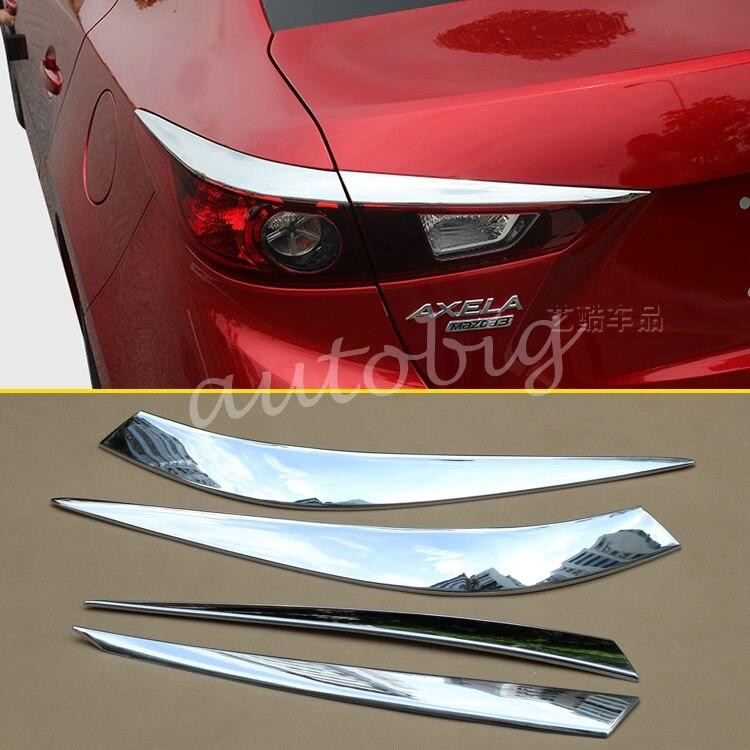 Tail Light Cover Chrome Rear Lamp Trim Taillight FOR Mazda3 BM BN Sedan Mazda 3 2014 2015 2016 2017 2018