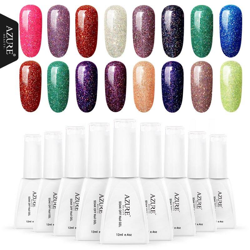 Azure Beauty Colorful Neon Nail Gel Soak Off UV Gel Polish With DIY Nail Art UV Gel Polish Lacquer Long Lasting UV Gel Lacquer