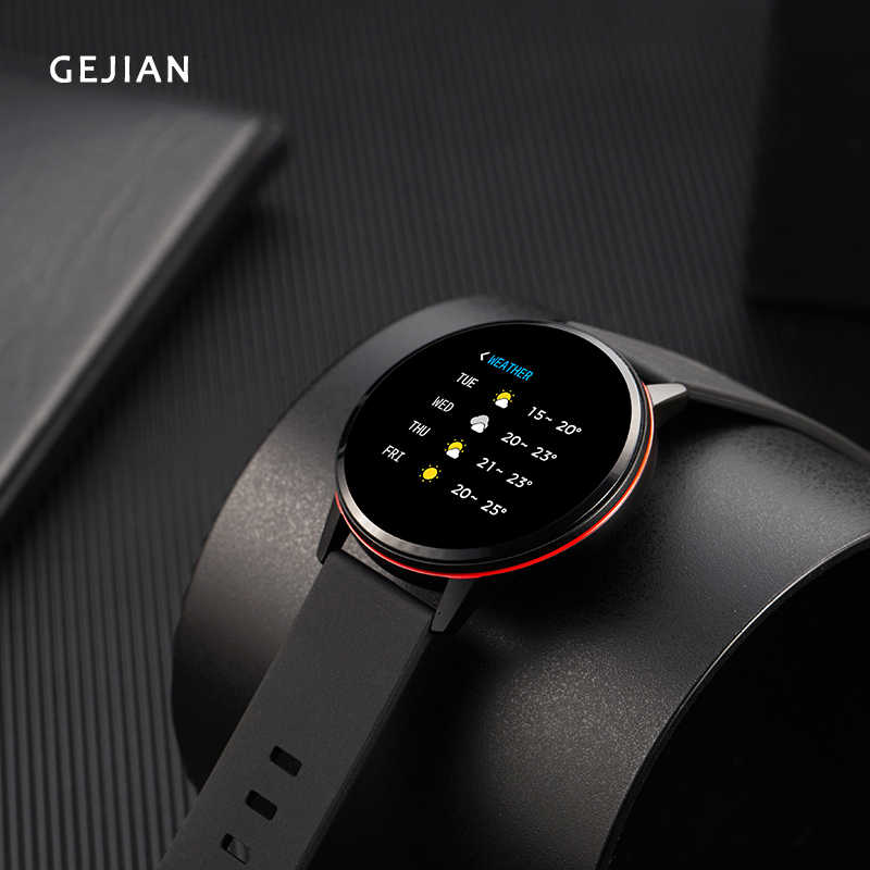 GEJIAN Fashion Smart Watch Men Waterproof Blood Pressure Women Sport Watches Heart Rate Detector Bracelet for Android IOS