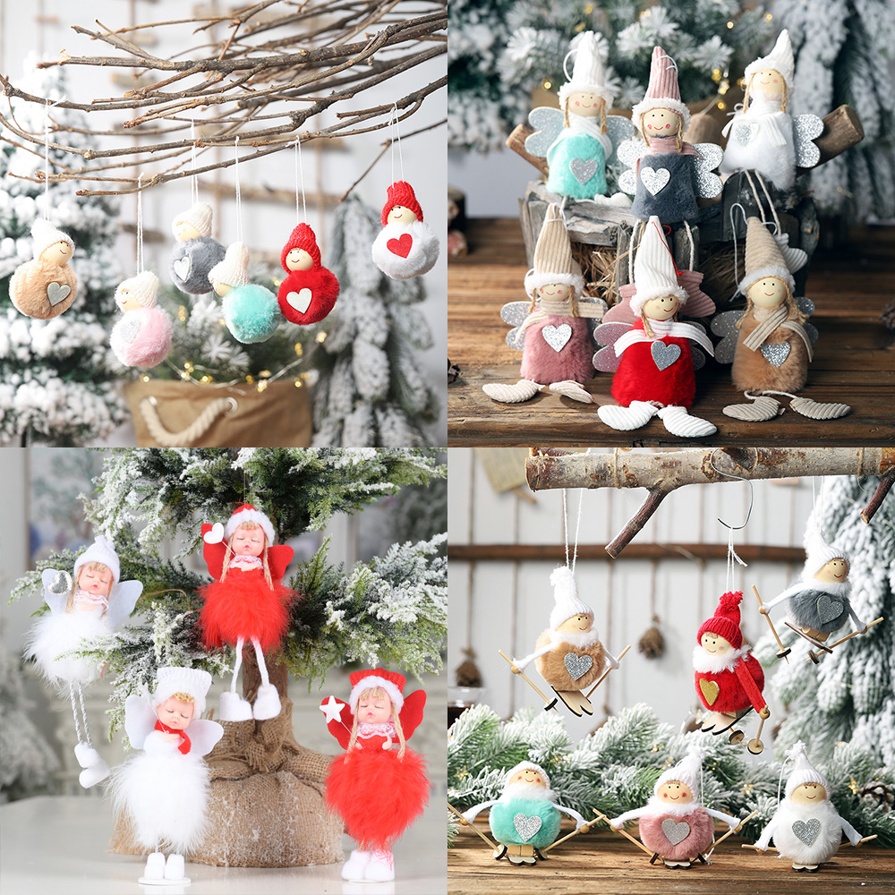 2021 New Year Christmas Angel Dolls Cute Xmas Tree Ornament Noel Deco Christmas Decorations For Home Decor Party Kid Gift