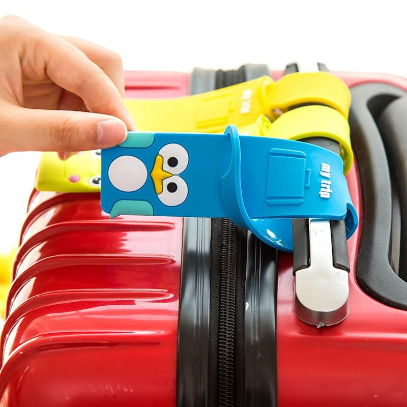 Fashion Luggage Tag Women Travel Accessories Silica Gel Suitcase ID Address Holder Baggage Boarding Tag Portable Label Bag