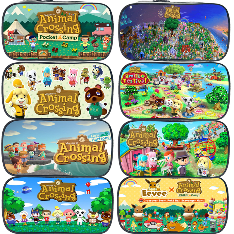 Creative Animal Crossing Large Pencil Case School Supplies Pencil Cases Pouch Girl Boys Stationery Pen Bag Kids Storage Holder