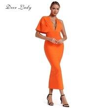 2019 sukienka nowości pomarańczowy
