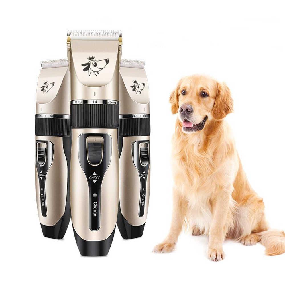الكلب الشعر المتقلب الكهربائية الحيوانات الأليفة المهنية التهيأ آلة أداة usb قابلة للشحن الحلاقة مقص الشعر القط الكلب حلاقة المقص