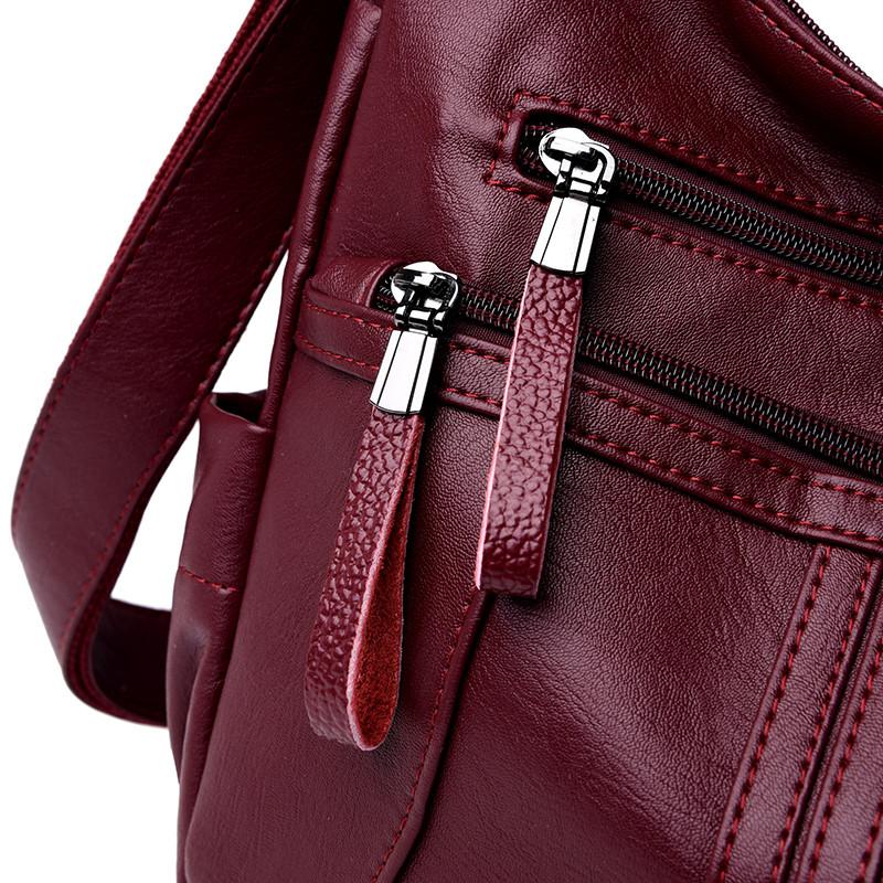 Leather Bag Messenger Female 25