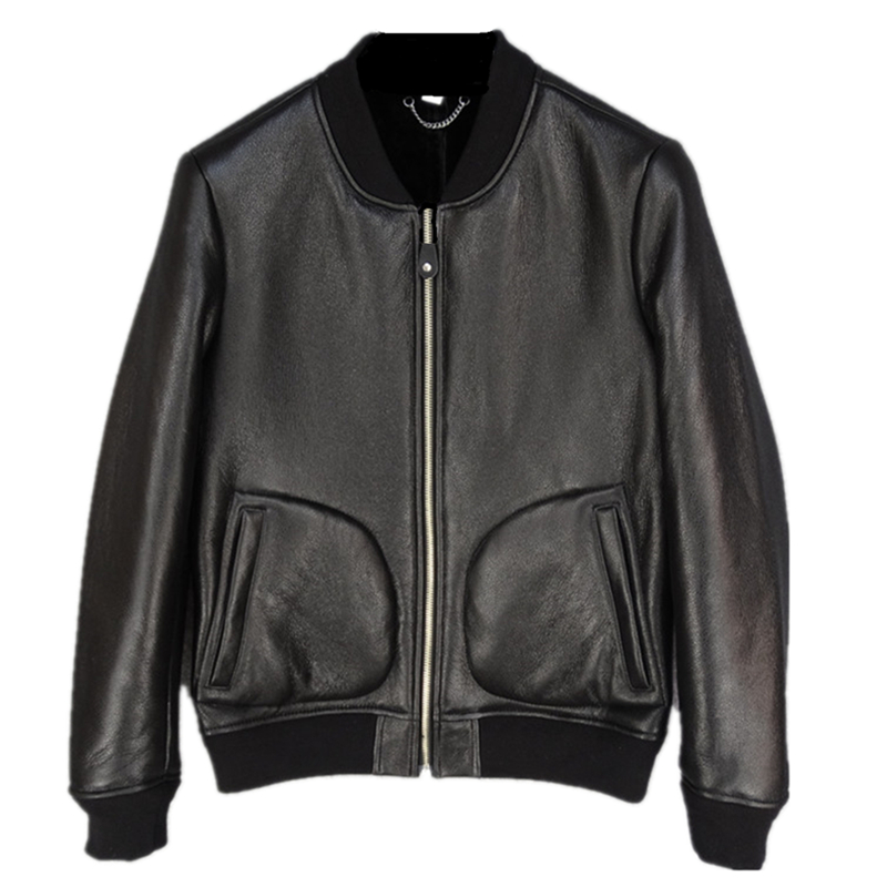 Genuine Leather Welfare Seconds  Pakistan Elephant Grain Production Fur Leather men's Warm High Quality Fashion