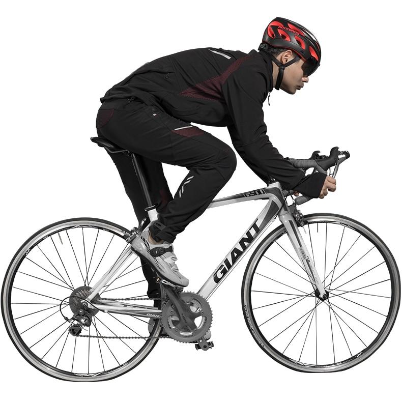 ROCKBROS Cycling Set Winter Thermal Fleece Sportswear Windproof Jacket Trousers Outdoor Sport Suit Man Woman Bike Clothing Set