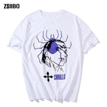 Hunter X Hunter T-shirt for Men Short Sleeve Anime Manga Chrollo Phantom Troupe Harajuku Tee Tops Gift Idea Streetwear 2