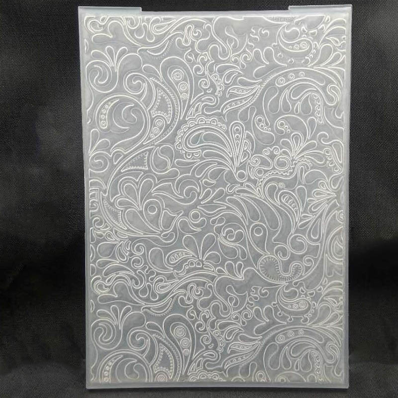 ZATBWS Flowers Embossing Plates Design DIY Paper Cutting Dies Scrapbooking Plastic Embossing Folder