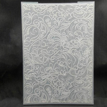 ZATBWS Flowers Embossing plates Design DIY Paper Cutting Dies Scrapbooking Plastic Folder