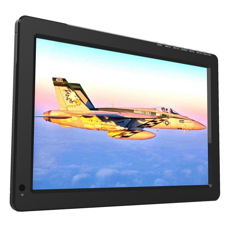 Portable 12.1Inch TFT LED 1080P Dvbt2 Digital Analog TV H.265 HDMI IN Car Television Support USB TF Card Reader EU Plug|Display Screen| |  -