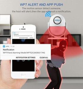 Image 4 - KERUI WP7 WiFi домашняя система охранной сигнализации с поддержкой приложения для обнаружения движения Дистанционное управление 110 дБ Звуковая Buglar сигнализация датчики движения