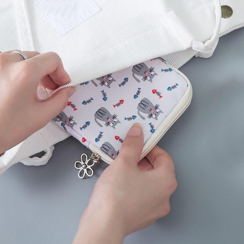 ETya мультяшная мини-сумка для монет для женщин и девочек с принтом кота, кошелек для монет, держатель для карт, кошелек, сумки для денег, наушники, посылка, подарки для детей