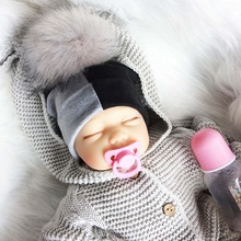 Baby Cap Cotton Patchwork Pompom Hat For Girls And Boys Winter Mother And Baby Hat Fashion Kids Caps Children's Accessories недорого