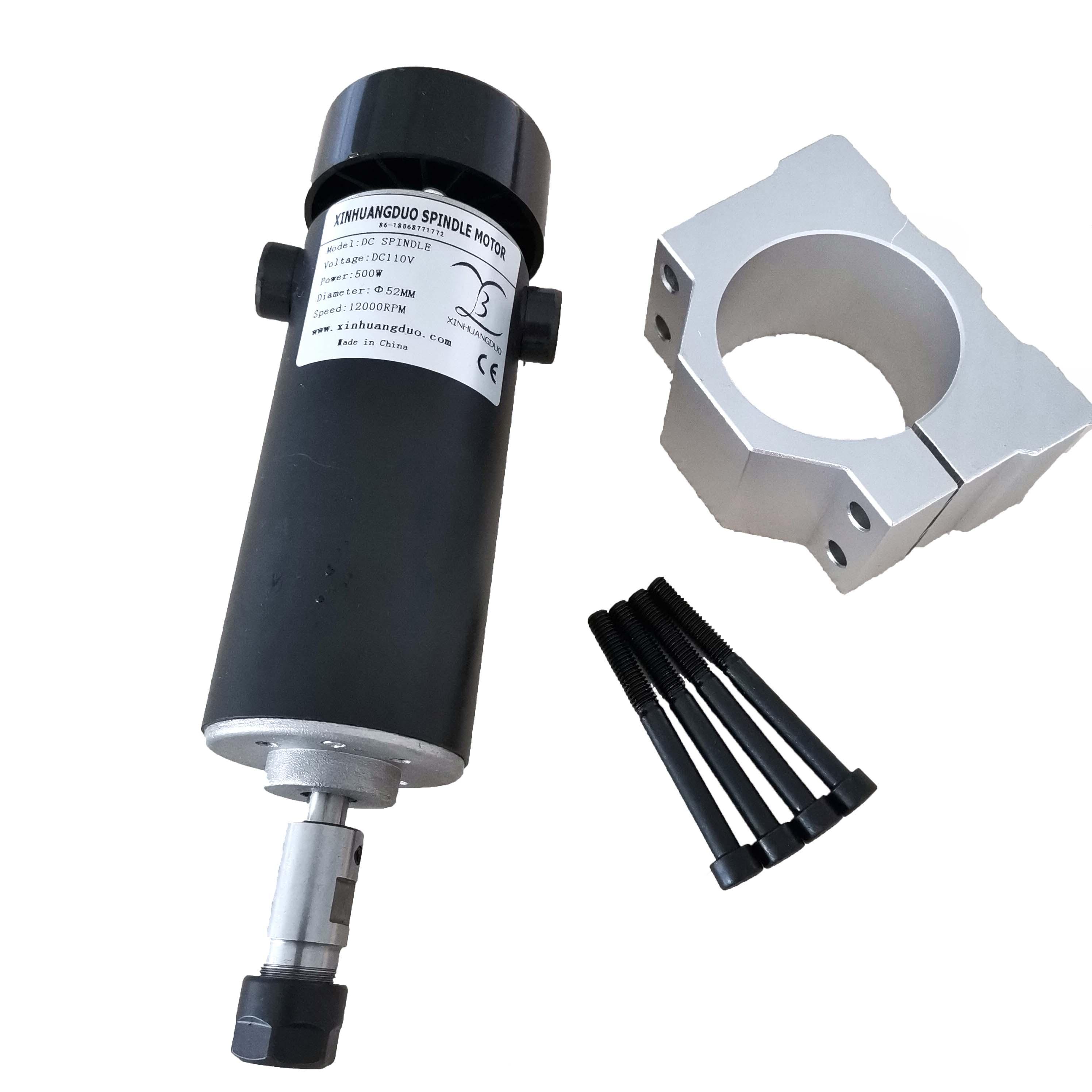 500 Вт Шпиндельный двигатель с воздушным охлаждением ER11/ER16 Цанга 52 мм диаметр 110 кВт постоянный ток в CNC резьба фрезерование воздуха холодный ...