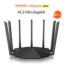 Tenda AC23 AC2100 Router Gigabit 2,4G 5,0 GHz Dual-Band 2033Mbps Wireless Router Wifi Repeater mit 7 high Gain Antennen Breiter
