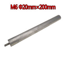 Haste do ânodo do magnésio do calefator de água das peças sobresselentes do calefator de água de m6 20mm * 200mm para o calefator de água bonde