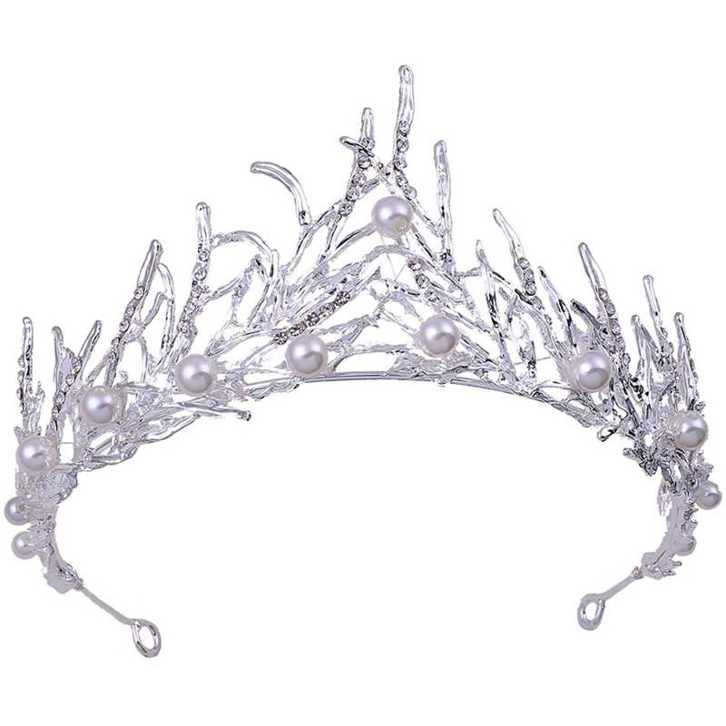 Fashion Flame Crown Headdress Crystal Crown Rhinestone Bridal Hair Accessories Headband Wedding Jewelry