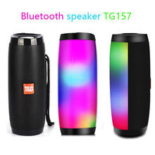 Portable Speaker Tf-Fm-Radio Heavy-Bass TG157 Outdoor Wireless HIFI Bluetooth with Led-Light