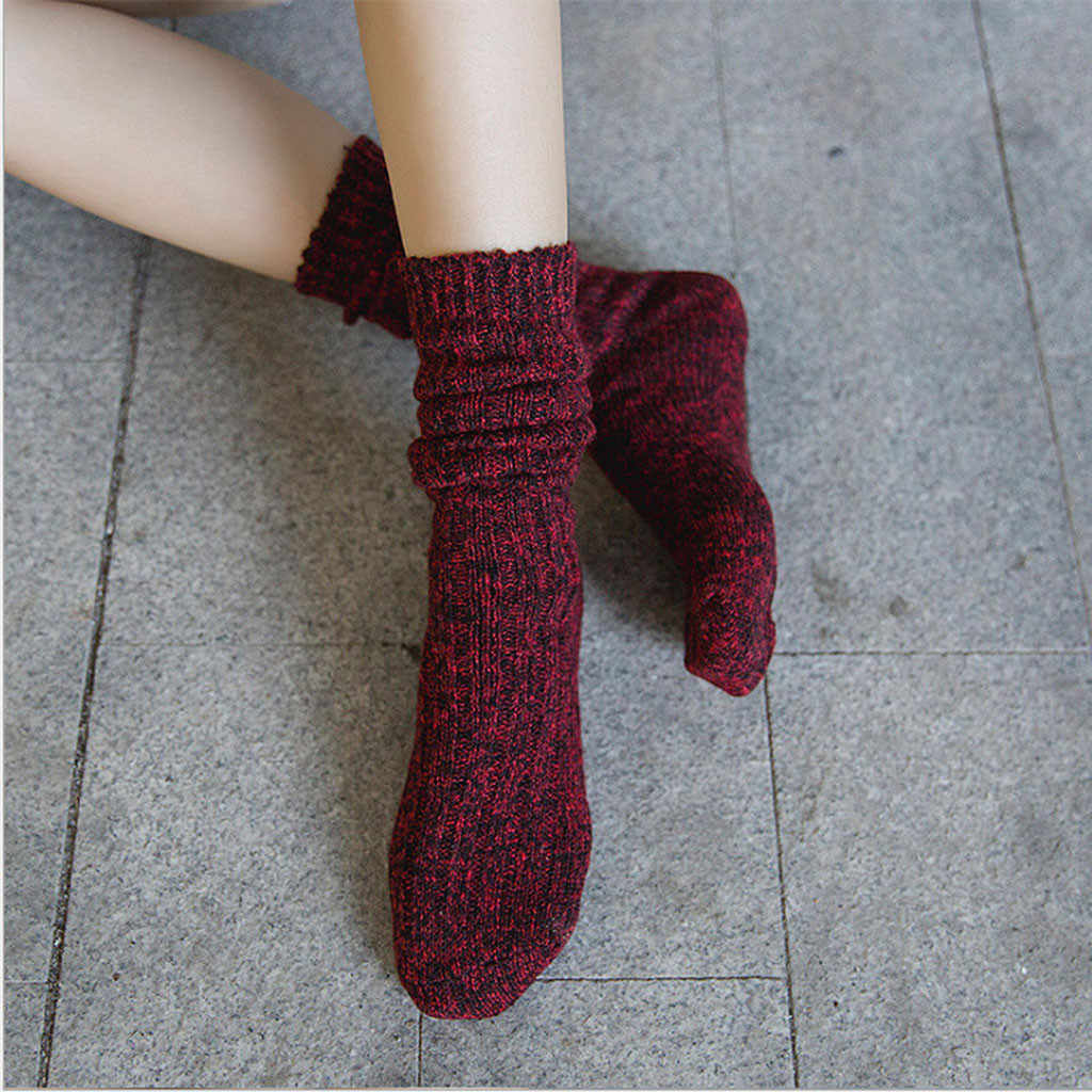 Mann Frauen Mittleren Rohr Baumwolle Socken Solide Damen Warme winter Weichen Casual Socken lustige Nette lange socke Cartoon Mädchen Bett boden Socken