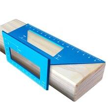 Messung Holzbearbeitung T-Typ Multifunktionale Platz Winkel Lineal 45 Grad 90 Grad Gauge Winkelmesser Aluminium Legierung