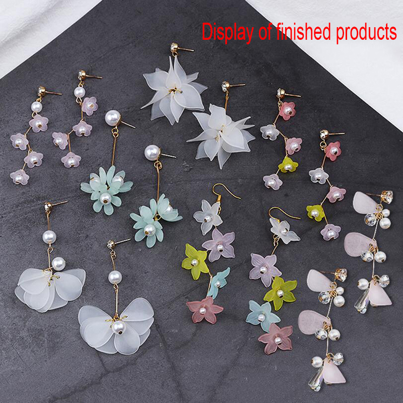 7 Pairs DIY Drop Earrings Mix Flower Material Handmade Jewelry Making Set Craft Component Gifts