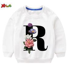 Детский хлопковый свитер с принтом на осень/зиму