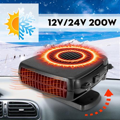 Upgrade 200W 2in1 Car Heating Cooling Heater Fan Defroster Demister Portable 12V
