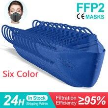 Masque facial réutilisable FFP2/FFP2/FFP2/kn95, produit de protection respiratoire de couleur, CE ffp3