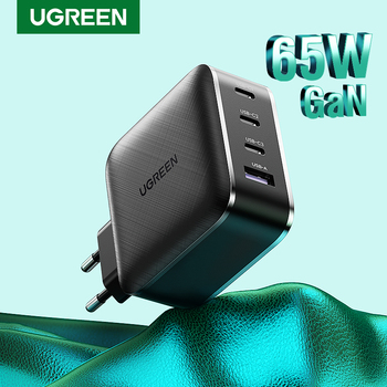 UGREEN USB Charger GaN 65W Fast PD Charger 4 Port USB C Charging Quick 4.0 30 for Huawei Xiaomi iPhone Notebook PD Charger