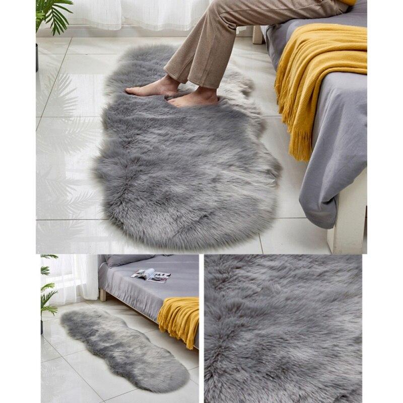 60X180 CM fausse fourrure zone tapis longue peluche tapis Shaggy Style nordique tapis pour salon chambre canapé étage livraison directe 1 paire