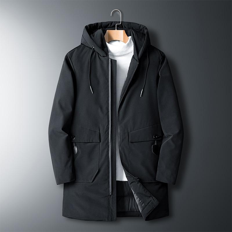 Warm Casual Padded 2019 Winter Jacket Men Parka Windbreaker Korean Clothes 39 S Classic Trench Coat