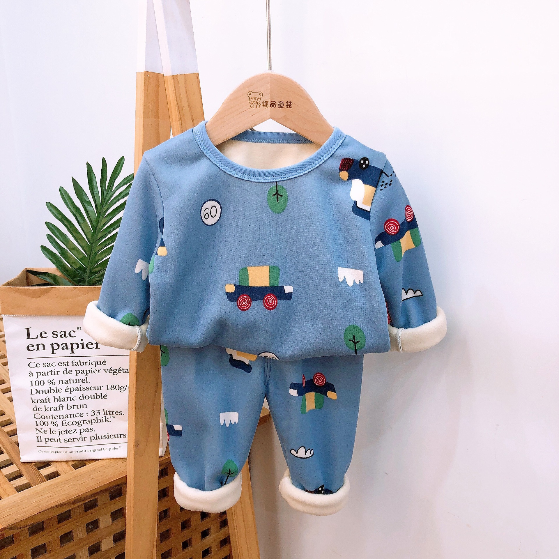 2021 Autumn Winter Thicken Velvet Children Pajamas Cartoon Family Boys Girls Clothing Set Kids Casual Sleepwear Suits Clothes 6