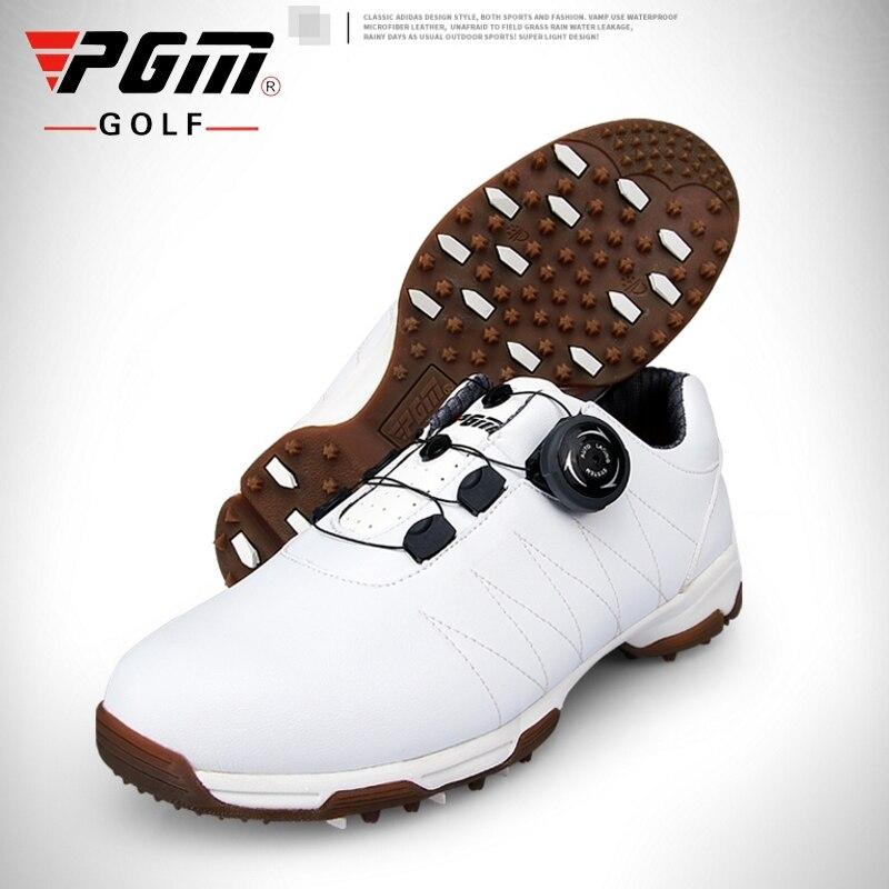 Sapatos de Golfe Tênis de Golfe Sapatos de Treinamento Pgm à Prova Mulher Dwaterproof Água Senhoras Girando Fivela Shoeslace Respirável Aa51026