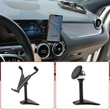 Uchwyt samochodowy do telefonu wspornik nawigacyjny dla Mercedes Benz A B CLA GLA GLB klasa W177 W247 C117 X156 X247 2020 wewnętrzna akcesoria