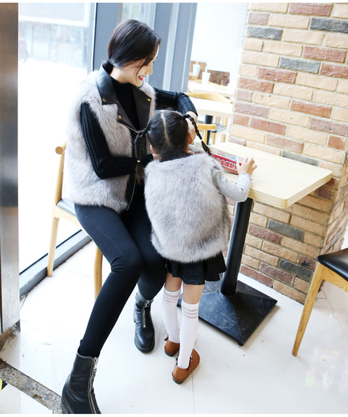 Autumn And Winter Fox Fur Sleeveless Vest Faux Fur PU Leather Stitching Vest Female 2019 Short Fashion Lapel Imitation 35