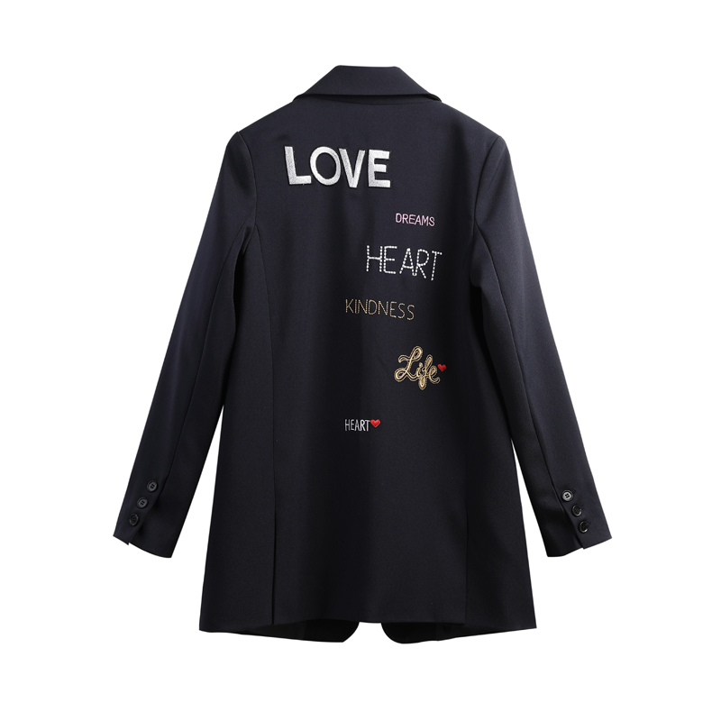 Blazer Feminino New Winter Clothes Women Korean- Style Embroidered Suit Jacket Women Loose-Fit Fashion Casual Suit Women