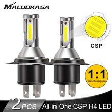 2 шт. светодиодный H4 светодиодный фонарь 10000лм/лампа 50 Вт H4 супер светодиодный CanBus Декодер мини фара 12 в 24 в автомобильный налобный фонарь Hi-lo луч